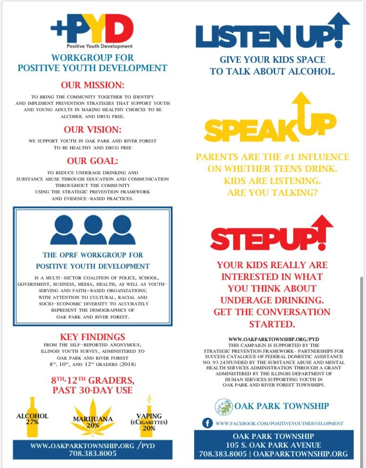 Oak Park Township Illinois +PYD infographic